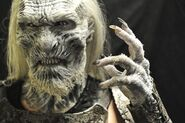 White Walker behind the scenes prosthetics 1