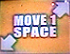 Move 1 Space (Down-Left And Up-Right)