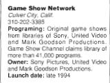 Game Show Network Blurb
