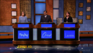 Jeopardy! second metallic contestant podiums