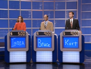 Jeopardy! 1991-1996 contestant podiums