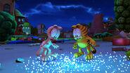 Garfield and Arlene watches fireflies