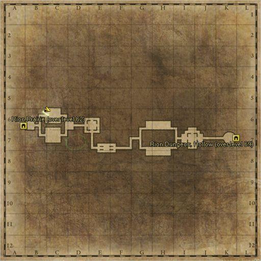 ZoneMap - Rion Dungeon Corridor