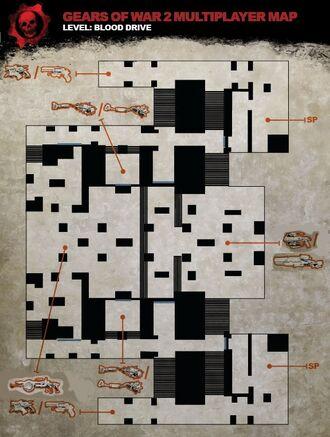 Blood Drive map