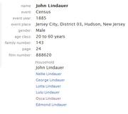 Lindauer-John 1885 NJ census
