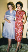 Helen Eloise Freudenberg (1928-1989) and Selma Louis Freudenberg (1921-2009) on Easter Sunday, April 2, 1961