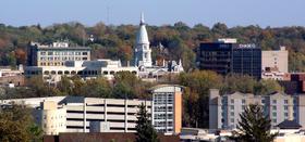 Lafayette skyline from West Lafayette