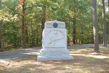 1863 Chickamauga 17th Ohio monument at Poe field