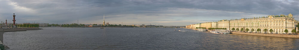 Panorama of Saint Petersburg from Palace Bridge