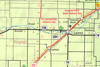 Map of Pawnee Co, Ks, USA