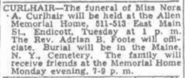 Curlhair-Nora 1952May4 funeral