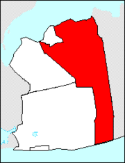 Map of Nassau County, New York,highlighting the Town of Oyster Bay