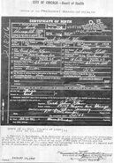 Jacob Joseph Klein Birth Certificate