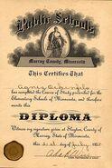 Agnes Ockenfels Grade School diploma