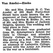 Charles Edward Ensko II marriage 1948
