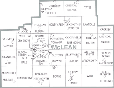 Map of McLean County Illinois
