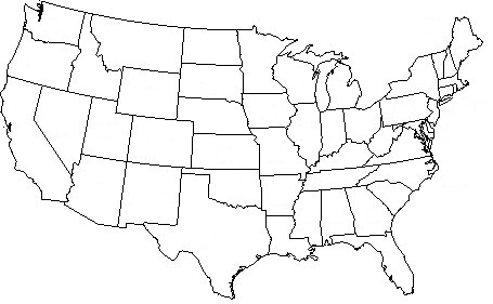 Outline Map Of Continental Us Outline Free Printable US Maps - Blank map of continental us