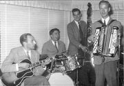 Playing the guitar with Rune Sköldberg´s Quartet in Varberg 1953