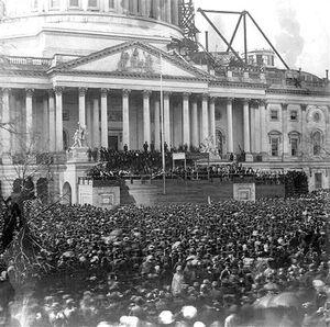 Abraham lincoln inauguration 1861