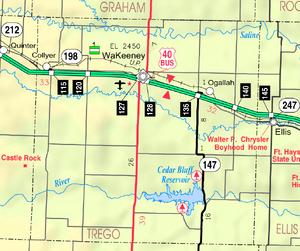 Map of Trego Co, Ks, USA