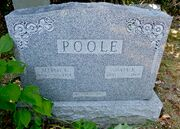 Tombstone of Alfred William Poole (1881-1959) and Julia Ann Lattin (1880-1960) at Powell Cemetery