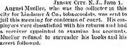Lindauer tobacco 1889