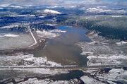 Martis Creek Lake and Dam winter