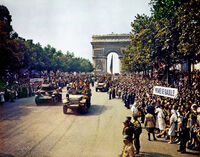 Crowds of French patriots line the Champs Elysees-edit2