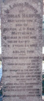 Thomas harpur matthews grave