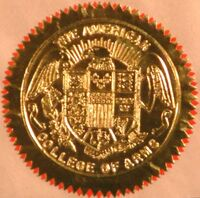 American College of Heraldry and Arms Seal