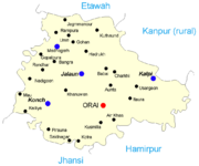 Map of Jalaun