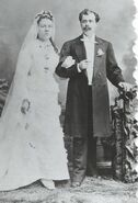 1877 marriage of Peder Matthias Olsen (1849-1896) and Anne Marie Jensen (1854-1896) in Chicago, Illinois