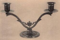 Maurice Ascalon Shabbat Candle Sticks