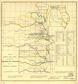 Map of Indian territory 1836
