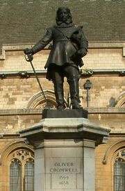 Oliver Cromwell - Statue - Palace of Westminster - London - 240404
