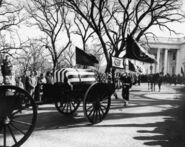 Kennedy funeral procession leaves White House, 25 November 1963