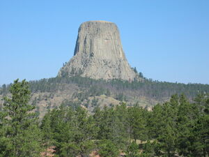 Devils Tower in Wyoming