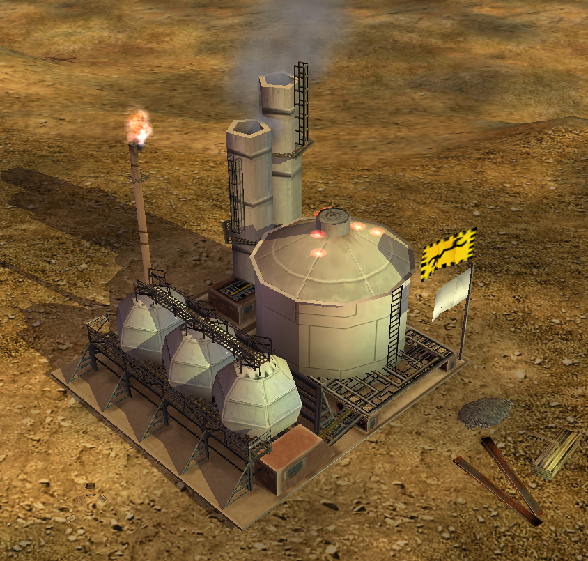 Tech Oil Refinery - Rise Of The Reds Generals mod Wiki - Fandom ...