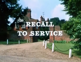 Recall to service