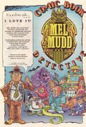 Mel Mudd Comic Ad in Slimer 17