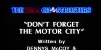 Don't Forget the Motor City
