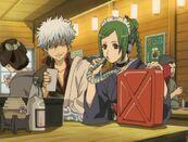 Gintoki and Tama at the Bar Episode 112
