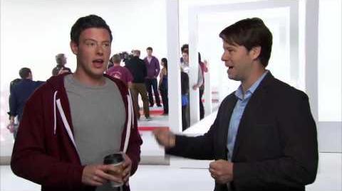 "GLEE - Sneak Peek ""The New Rachel Interview with Cory Monteith"