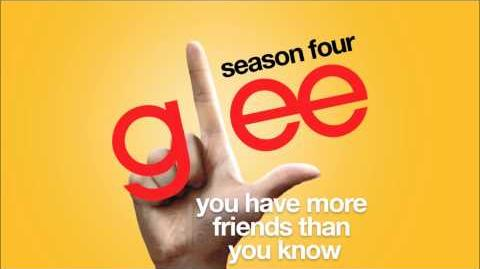 You Have More Friends Than You Know Glee HD FULL STUDIO