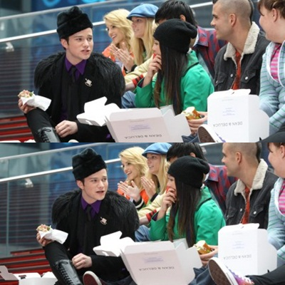 File:Kurt talking to tina puck and lauren - glee in nyc.jpg