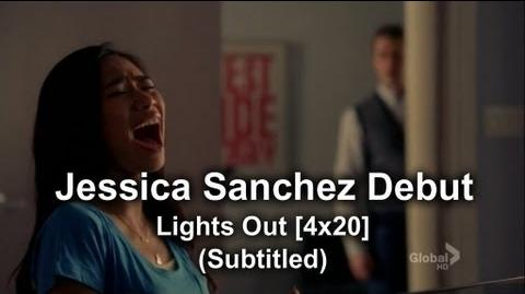 Glee - Jessica Sanchez as Frida Romero Debut Lights Out (Subtitled) HQ