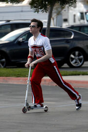 Chris Colfer-Cheerio on Scooter