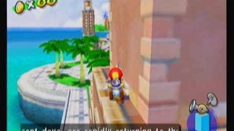 Super Mario Sunshine. Secret Rocket Nozzle in Delfino Plaza