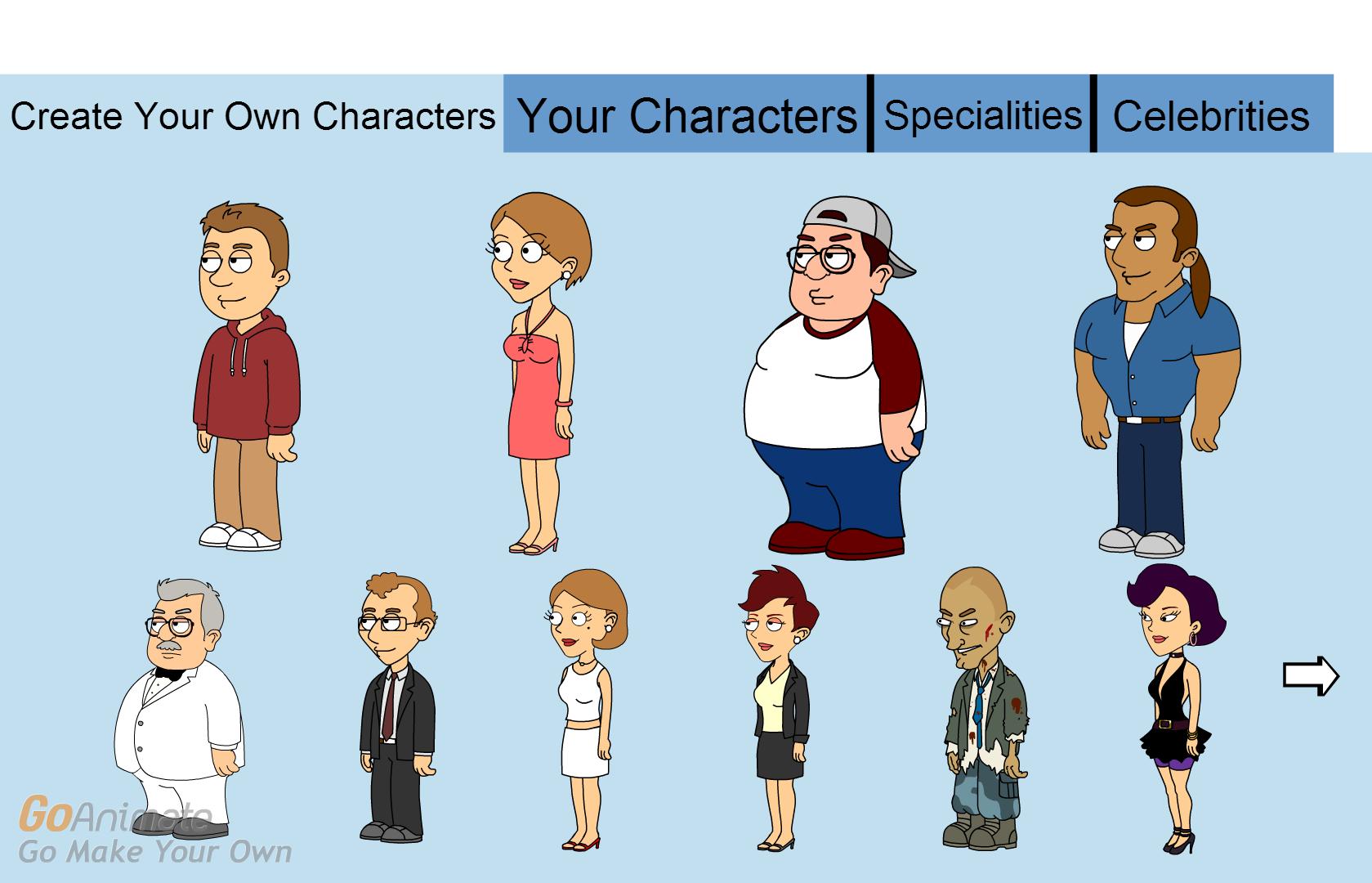 Image - GoAnimate Dream Character Creator.png | GoAnimate V2 Wiki ...