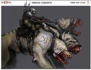 Cerberus mounted